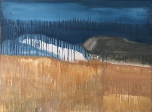 Beyond the land mixed media on canvas, 92 x 122cm
