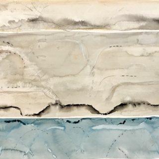 Blue Mist mixed media on paper, 57 x 76cm