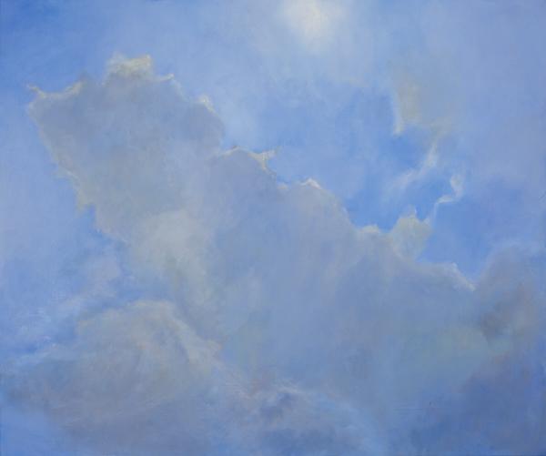 Cloud Plume acrylic on canvas, 61 x 51cm