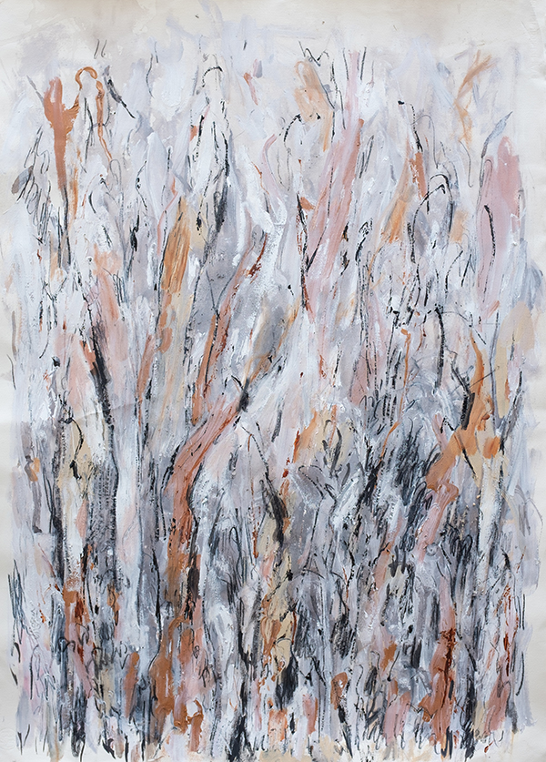 Copper Forest, mixed media on paper, 107 x 78cm
