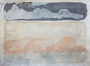 Double landscape ii, mixed media on paper, 79 x 107cm