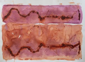Double landscape iv, mixed media on paper, 78 x 107cm
