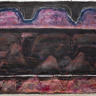 Dusk, mixed media on paper, 77 x 111cm