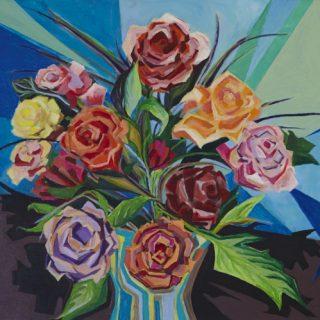 Floral Arrangement 1 acrylic on canvas, 61 x 50cm