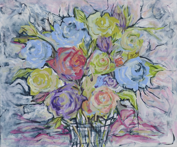 Floral Arrangement 3 acrylic on canvas 61 x 50cm