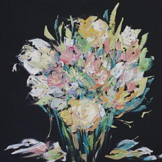 Floral Arrangement 4 acrylic on canvas, 61 x 50cm
