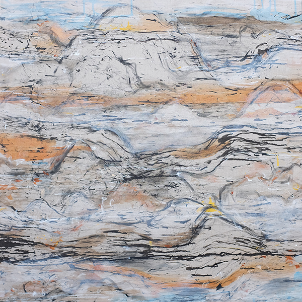 Fragile Landscape xx, mixed media on linen, 92 x 91cm
