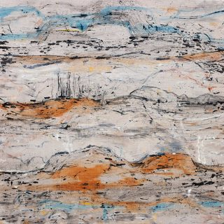 Fragile Landscape xxi, mixed media on linen, 92 x 91cm