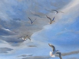 In flight, oil on canvas, 51 x 61cm