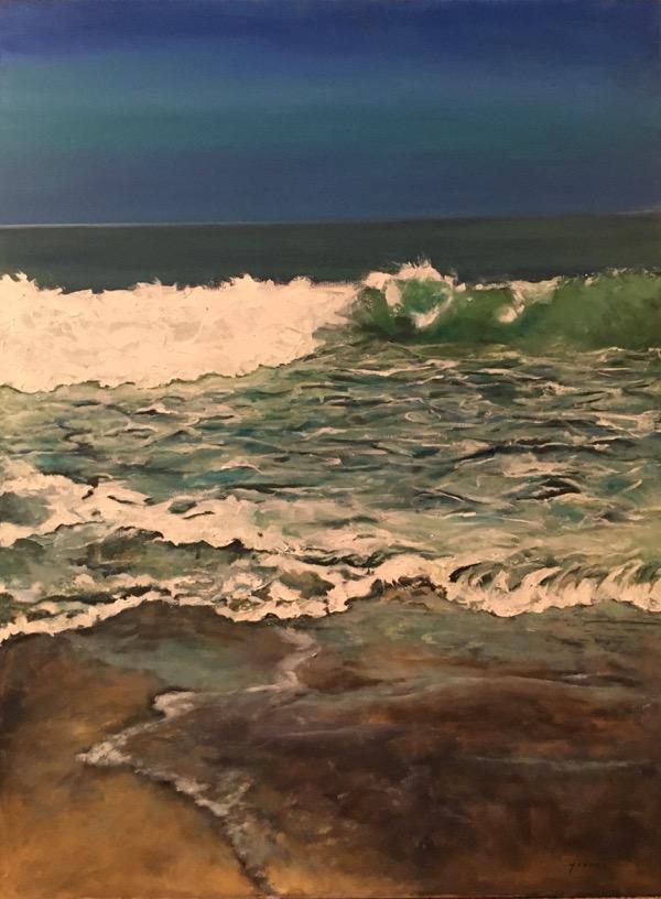 Meditation, acrylic on canvas, 102 x 77cm