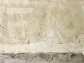 Monkeys Wedding 1, mixed media on paper, 77 x 58cm
