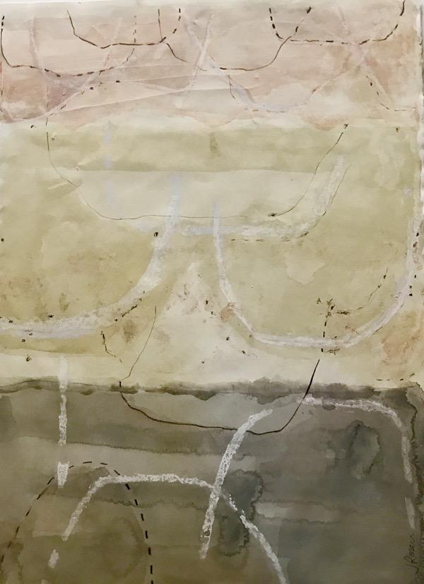 Monkeys Wedding 2 mixed media on paper, 77 x 58cm