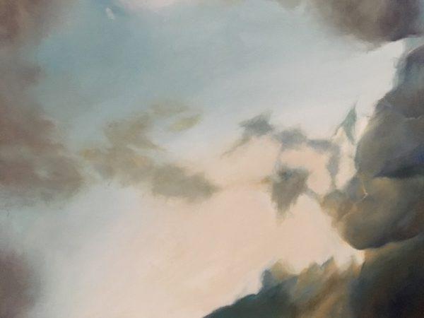 Des Nuages, oil on canvas, 102 x 77cm