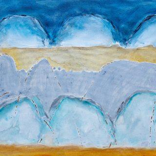 Rains, mixed media on canvas, 76 x 102cm