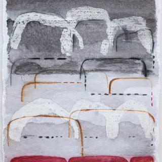 Shifting Landscapes i, mixed media on paper, 29 x 21