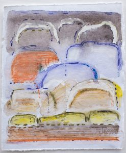 Shifting landscapes ii, mixed media on paper, 29 x 21