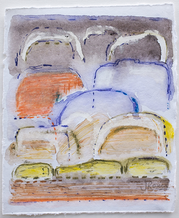 Shifting Landscapes II, mixed media on paper, 29 x 21cm