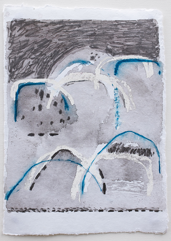 Shifting Landscapes III, mixed media on paper, 29 x 21cm