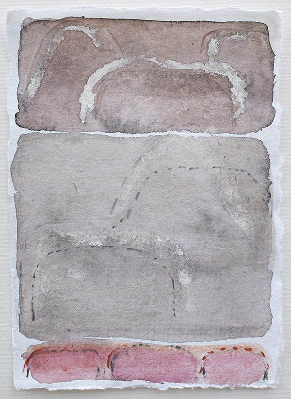 Shifting Landscapes IV, mixed media on paper, 29 x 21cm