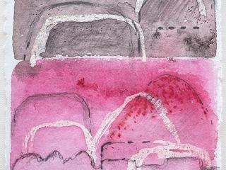 Shifting Landscapes ix, mixed media on paper, 29 x 21cm