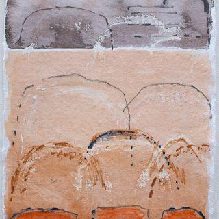 Shifting Landscapes V, mixed media on paper, 29 x 21cm