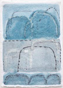 Shifting landscapes vi, mixed media on paper, 29 x 21