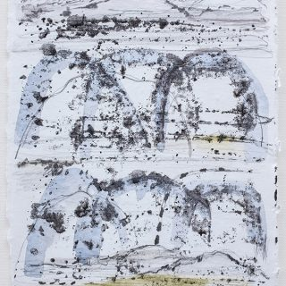 Shifting Landscapes vii, mixed media on paper, 29 x 21