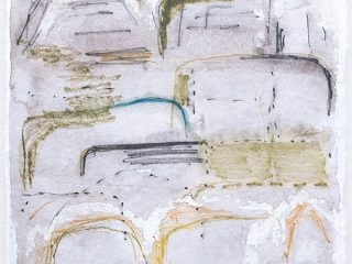 Shifting Landscapes VIII, mixed media on paper, 29 x 21cm