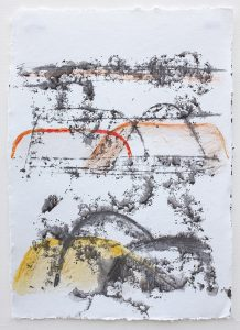 Shifting landscapes xi, mixed media on paper, 29 x 21