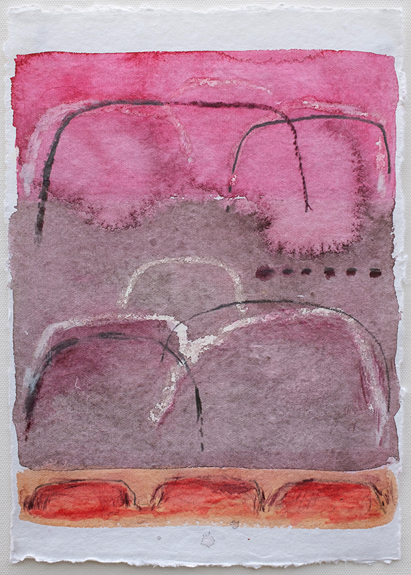 Shifting Landscapes xii, mixed media on paper, 29 x 21cm