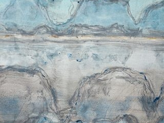 Solitude, mixed media on paper, 80 x 120cm