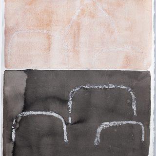 Spirit iv, mixed media on paper, 80 x 61cm