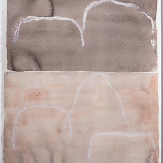 Spirit v, mixed media on paper, 80 x 61cm