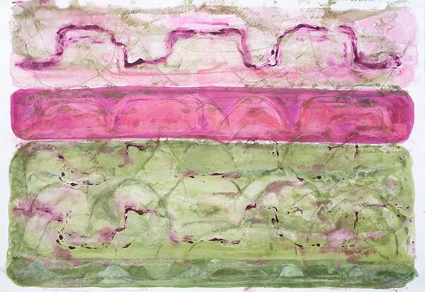 Summer Garden, mixed media on paper, 77 x 111cm