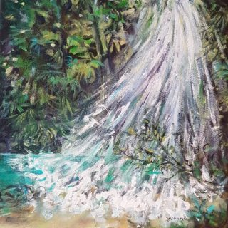 The Splash, acrylic on canvas, 30 x 30cm