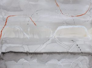 Up in the air i, mixed media on paper, 57 x 76cm