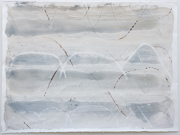 Up in the Air ii, mixed media on paper, 57 x 76cm
