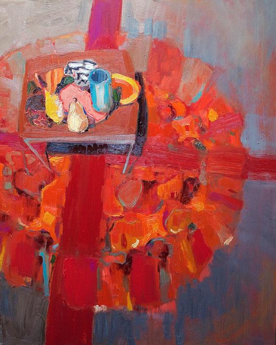 Crossroads, oil on board, 104 x 82cm