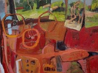 Junkroom, oil on board, 100 x 120cm