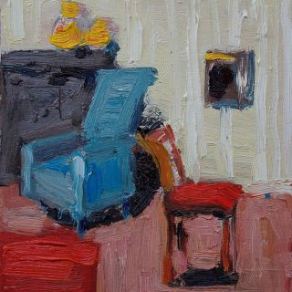 Study 2, oil on board, 23 x 21cm