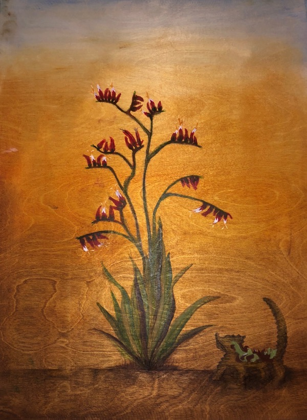 Samsara Crowe, Devilishly Cool, oils on board, 61 x 46cm