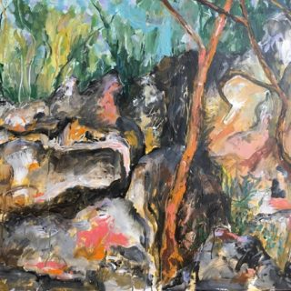 Balls Head Reserve, acrylic on canvas 76 x 102cm