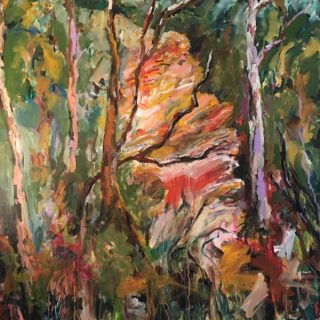Blue Mountains Bushwalk, acrylic on canvas, 91 x 91cm