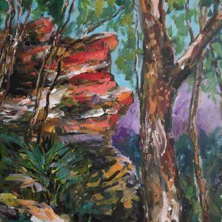 Blue Mountains, acrylic on canvas, 76 x 51cm