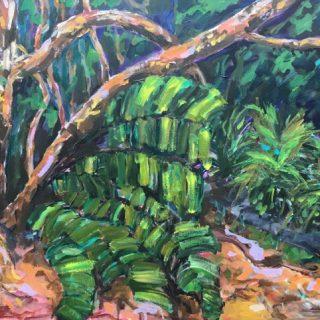 Bronte Gully I, acrylic on canvas, 61 x 76cm