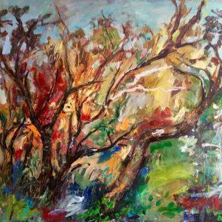 Bush Colours, acrylic on canvas, 76 x 92cm