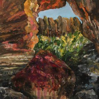 Cave Outlook, acrylic on canvas, 102 x 102cm