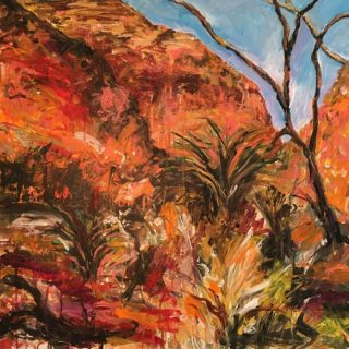 Central Australia, acrylic on canvas, 76 x 76cm
