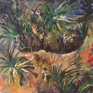Coastal Scrub, acrylic on canvas, 76 x 102cm