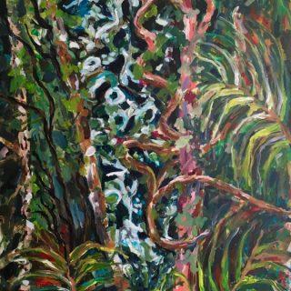 Entangled, acrylic on canvas, 102 x 75cm